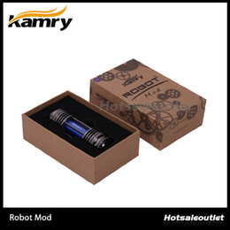 Wholesale Ego Rechargeable Battery Wholesale - Kamry Robot v Match to 18650 Battery with Kick Chip Ego Ce4 2000mah Screwless Rechargeable E Cigarette 100% Original