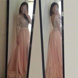 Wholesale Sample Long Sleeve Evening Dresses - Elegant Saudi Arabia Prom Dresses 2016 Real Sample Shinning Beaded Crystal Long Sleeve Chiffon Floor Length Evening Dress Custom made Dress