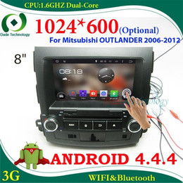 Wholesale Capacitive Android Double Din - Double din Car DVD gps Android 4.4 Capacitive screen 1024*600 (optional) 2 din car dvd car multimedia for Mitsubishi Outlander