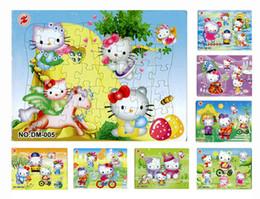 40 unids / pack Hello Kitty Puzzles 8 Estilo Para Elección Hello Kitty Personajes Patrón Niños Juegos Educativos Juguetes Para Niños Regalo H0577b desde fabricantes