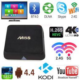 Wholesale Dual Core 2ghz - In stock Andriod TV box smart tv box M8S new Amlogic S812 Quad core 2GHz Mali450 kodi GPU 4K HDMI 2.4G 5G Dual WiFi