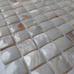 Argentina 20x20mm forma convexa madre de perla mosaico de color natural cuarto de baño baño azulejo de la pared azulejo backsplash cocina # MS058 Suministro