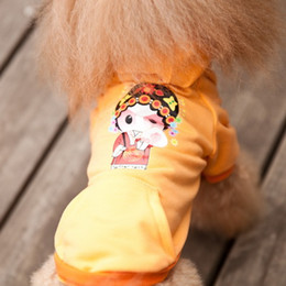 Wholesale Chinese Dog Bows - Wholesale-Fashion dog clothes pet coat sweater Chinese style printing:LADY clothes for dogs