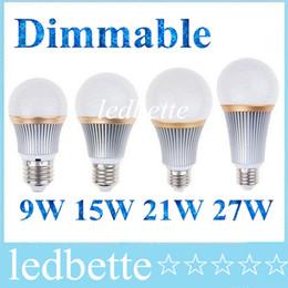 Wholesale High Power E27 21w - New 2015 LED Bulb lamps E27 E26 Led Spotlight bulb High Power Dimmable 9W 15W 21W 27W Warm Pure Cool White 110-240V