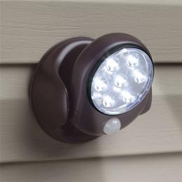 Wholesale Infrared Led Night Motion Sensor - 7 LED Wireless PIR Auto Motion Sensor Light LED Motion Light Intelligent Portable Infrared Induction Lamp LED Sensor Night Lights