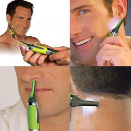 Wholesale Electric Nose Hair Ear Trimmer - Multifunction Personal Electric Nose Trimmer Build In LED Light Hair Ear Eyebrow Sideburns Shaver Free Shipping A3116