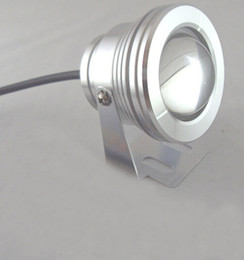 Wholesale 12 volt cooler warmer - 12 Volt 10W LED Underwater Light Silver Black Swimming Pool Lamp Outdoor Waterproof IP68 Warm white Cool white 12V CE ROSH for Garden Yard
