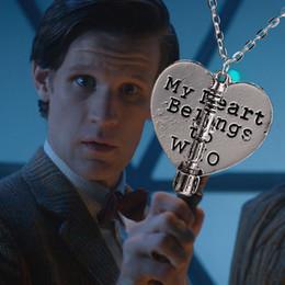 collana cacciavite acustica Sconti Nuovo arrivo Dott. Doctor Who My Heart appartiene a Who Sonic Screwdriver Pendant Collane a forma di cuore