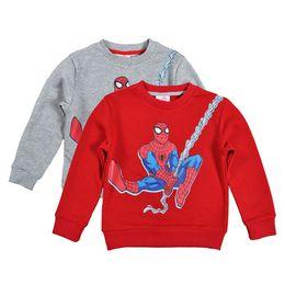 Wholesale Spiderman Sweatshirt - Retail cartoon Spider man boys christmas sweatshirt 2016 winter style Anime SpiderMan long sleeve children outwear kids clothing 201510HX