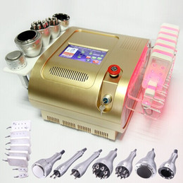 Wholesale cavitation lipolaser - EU tax free 7-in-1 Vacuum Radio Frequency Lipo Laser Cavitation RF slimming machine weight loss Photon LED Lipolaser equipment