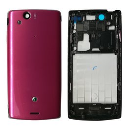 Wholesale Housing Full Case - Full Good Housing Front Frame + Middle Chassis + Back Battery Cover Case+Keypad for Sony Xperia Arc S LT15i LT18i X12