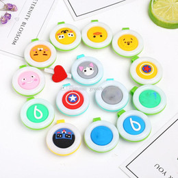 Wholesale Baby Badge - New Mosquito Repellent Badge Button Buckle Colorful Cartoon Cute Baby Pregnant Woman Mosquito Repellent Clip 14 styles C2383