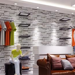 Пвх виниловые конструкции для стен онлайн-Современные старинные 3D камень обои, 3D кирпич обои дизайн, мода магазин одежды, фон виниловые обои ПВХ для стен