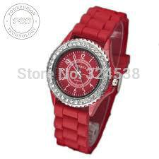 Wholesale Stylish Silicone Jelly Watches - Wholesale-Factory Price 500pcs lot Wholesale Free Shipping Classic Gel Silicone Crystal Men Lady Jelly Watch Gifts Stylish Fashion Luxury