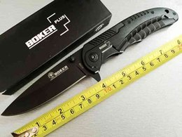 Wholesale Oem Pocket Knife - High quality OEM Boker EDC pocket knife 440 56HRC blade steel handle survival rescue knives tool