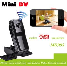 mini grabadora de video recargable Rebajas 2015 de alta calidad HD WiFi cámara HD99S Mini DV Wireless IP cámara Video wifi hd de bolsillo remoto por teléfono mini cámara