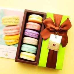 Wholesale decorative boxes for gifts - 100% Handmade France Macarons Coconut Oil Soap Decorative Christmas Gift Box 6pcs Savon Coffret Idee Cadeaux