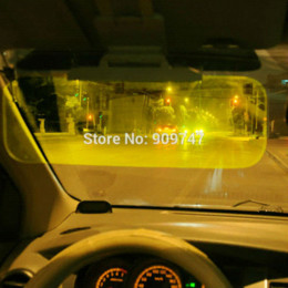 Wholesale Hanging Accessories For Car Mirrors - New Arrival Car Sun Visor Goggles For Driver Day And Night Anti-dazzle Mirror Automobile Sun-shading Block Free Shipping M22078