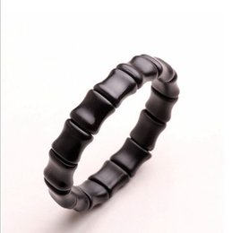 Wholesale Bianchi Women - Wholesale-Natural Si Bin Stone Bracelet black jade bamboo women men care anti-fatigue radiation Stone bracelets Byanshi bianchi