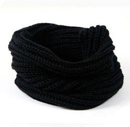 Wholesale Thick Scarves For Winter - Thick Knitted Winter Warm Scarf For Women Men 1 Round 20pcs lot Free Shipping