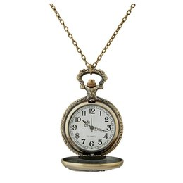 Wholesale Mechanical Vintage Pocket Watches - Pocket Watch Pocket Watches Mechanical Watches Pocket Watch Vintage Pocket Watch Stainless Steel Chain Pendant Necklace Quartz Gifts Silver