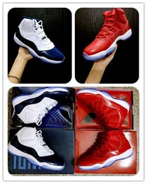 Wholesale Cheap Sequined Tops - cheap 11 Gym Red Chicago Win like 96 Midnight Navy 11s Win like 82 unisex Basketball Shoes Top quality Athletic Sport Sneakers free ship