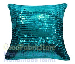Wholesale Ge a Turquoise mm Sequins w Velvet Cushion Cover Pillow Case Custom Size x16 x18 quot x18 quot x19 x20 quot x20 quot x24 quot