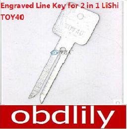 Wholesale Locksmith Wholesale Key Blanks - 20pcs Original Engraved Line Key for 2 in 1 LiShi TOY40 scale shearing teeth blank car key locksmith tools supplies