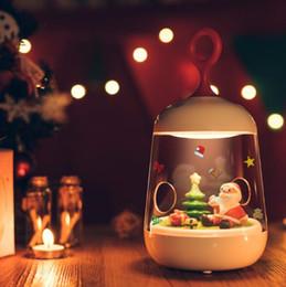 Wholesale Micros Sensor - Christmas Lights Father Christmas 3D LED Night Light Micro Landscape LED Night Lamp Rechargeable Touch Sensor USB Light CCA8306 120pcs