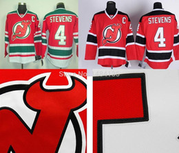 Wholesale Scott Red - 2016 New, Hi-Q Mens New Jersey Devils Jersey #4 Scott Stevens Jerseys Team Color Red White Black Stitched Jersey with Embroidery Logos