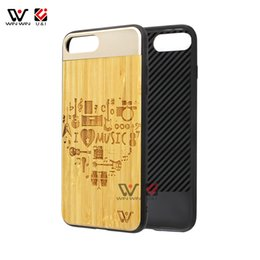 Wholesale i phone card case - Aluminum bamboo wood case for iPhone 6 6s 7 8 i6s , cell phone cases for i Phone 6 6s plus x, phone accessories