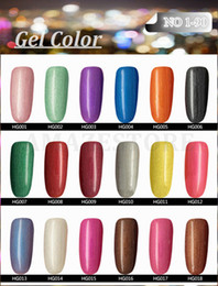 Wholesale 2016 Hottest item Gelish Nail Polish Soak Off Nail Gel For Salon UV Gel Colors ml supply