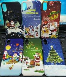 Wholesale Iphone Holiday Case - Creative Christmas holiday case For Iphone x For Iphone x light Cover Luxury Hard PC Case