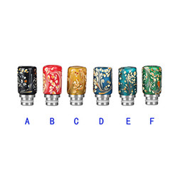 Wholesale V Bearings - Glass Drip Tips 510 Colorful Art Glass Drip Tip Rich Style Wide Bore Drip Tip fit Aspire RDA MOD Mephisto E Cigarettes v friction drip tip