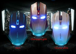 Wholesale New Gaming Mouse - New Iron Man Mouse Wireless Mouse Gaming Mouse gamer Mute Button Silent Click 800 1200 1600   2400DPI Adjustable computer mice
