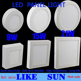 Wholesale Ceiling Spotlight Light - Hot sale surprise!Dimmable 9W 15W 21W Round   Square Led Panel Light Surface Mounted Led Downlight lighting Led ceiling spotlight + Drivers