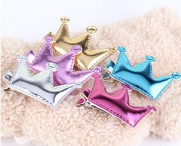 Wholesale Bamboo Hair Sticks - Baby Summer Style Shiny Crown Baby Hairpins Protective Star Clip Kids Accessories Girls Hair Accessories Children Hair Clip