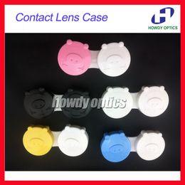 Wholesale Pig Contact Lens Case - Wholesale-100pcs Wholesale Lovely Pig Contact Lens Case Contact Lenses Case Contact Lens Box Free Shipping