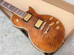 Wholesale Tiger Brown Flamed - Supreme custom guitar brown tiger flamed top Electric guitars Chinese Guitars 2015 New Guitars