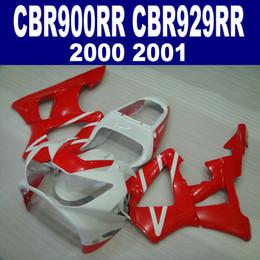 carena rossa per honda cbr 929 Sconti Kit carena di alta qualità per HONDA CBR900RR Carrozzeria CBR929 2000 2001 CBR 929 RR Carrozzeria rosso CBR929RR set HB2