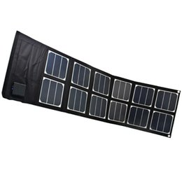 Wholesale Solar Charger Foldable - 40W High Efficiency Sunpower Solar Charger Pack Foldable Portable Solar Panel Charger Pack for Laptop ipad iPhone Samsung Android Device