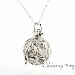 Wholesale Metal Chain N - cone openwork diffuser necklace diffuser necklaces wholesale aromatherapy jewelry aromatherapy pendants metal volcanic stone essential oil n