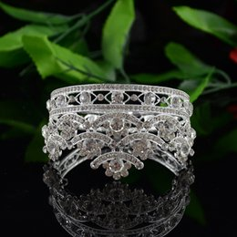 Wholesale Trendy Quinceanera - 2016 Alloy Rhinestone Big Crown Bride Wedding Hair Accessories Bridal Head Piece Quinceanera Tiaras and Crowns