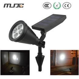 Wholesale Solar Black Light Led - Solar Garden Lamp Spot Light Outdoor Lawn Landscape Path 4-LED Spotlight Black