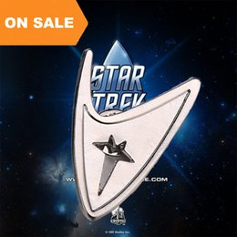 Wholesale Movie Star Jewelry - Movie jewelry Star Trek Brooch Alloy Starfleet Division Badges Star trek PINs for fans cosplay jewelry 170244