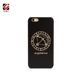 Wholesale Iphone Covers China Wholesale - China Supplier U&I 12 Constellation Zodiac Case for iPhone Apple 6 6s 6 s Hard PC Black Wood Plastic Cell Mobile Phone Cover