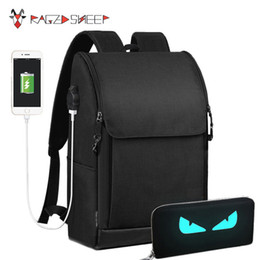 Wholesale 17 Inch Backpack - Raged Sheep Anti-thief USB charging 17 inch laptop Men backpack Waterproof Backpack school Big Capacity Casual Style Bags