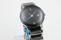Wholesale Watches Womens Date - brand cheap date quartz womens black ceramics BELT sport watch fashion new women watch stainless steel luxury wristwatch women's Watches