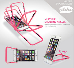 Wholesale Iphone Case Stand Snap - Korean Ahha Stand Multiple Angles Rotating Selfie Snap Shot stand holder Case for iphone 5s 6 4.7 inch plus 5.5 inch Samsung Galaxy S6