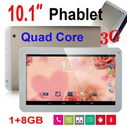 Wholesale 3g Tablet Phone Free Shipping - 10 10.1 Inch MTK8382 3G Tablet PC Phone Call Phablet Android 4.4 1GB 8GB Quad Core GPS Bluetooth FM Dual Sim unlocked golden Free shipping